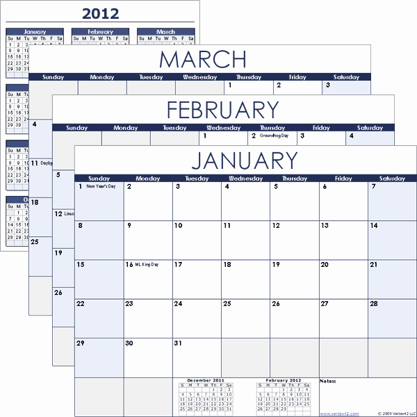 12 Month Calendar Template Luxury Excel Calendar Template for 2019 and Beyond