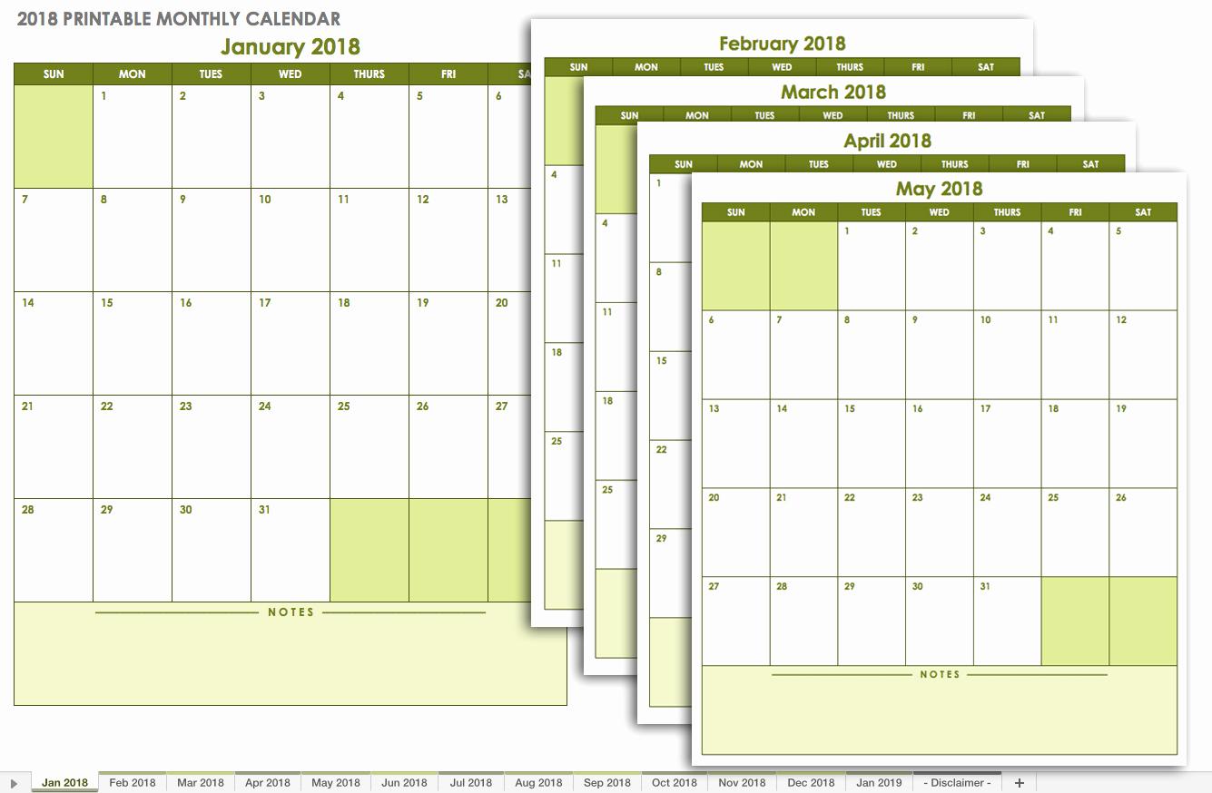 12 Month Calendar Template New 15 Free Monthly Calendar Templates