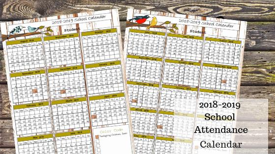 2019 attendance Calendar Free Beautiful Free 2018 2019 Printable School attendance Calendar