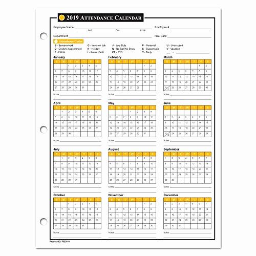 2019 attendance Calendar Free Fresh attendance Chart Amazon