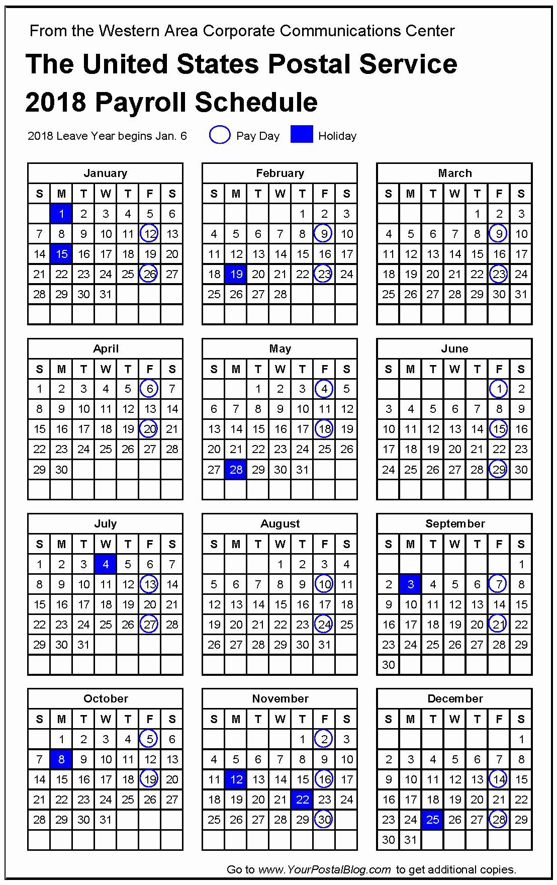 2019 Biweekly Payroll Calendar Template Awesome 2018 Postal Payroll Calendar