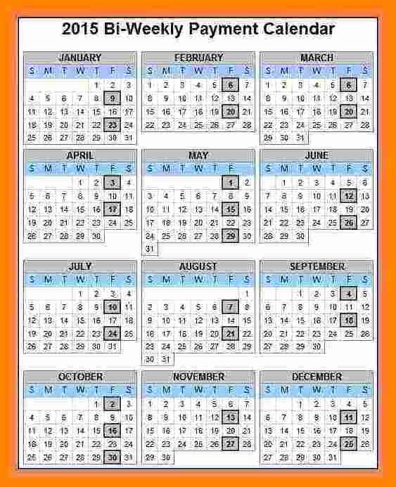 2019 Biweekly Payroll Calendar Template Beautiful 5 Bi Weekly Payroll Calendar