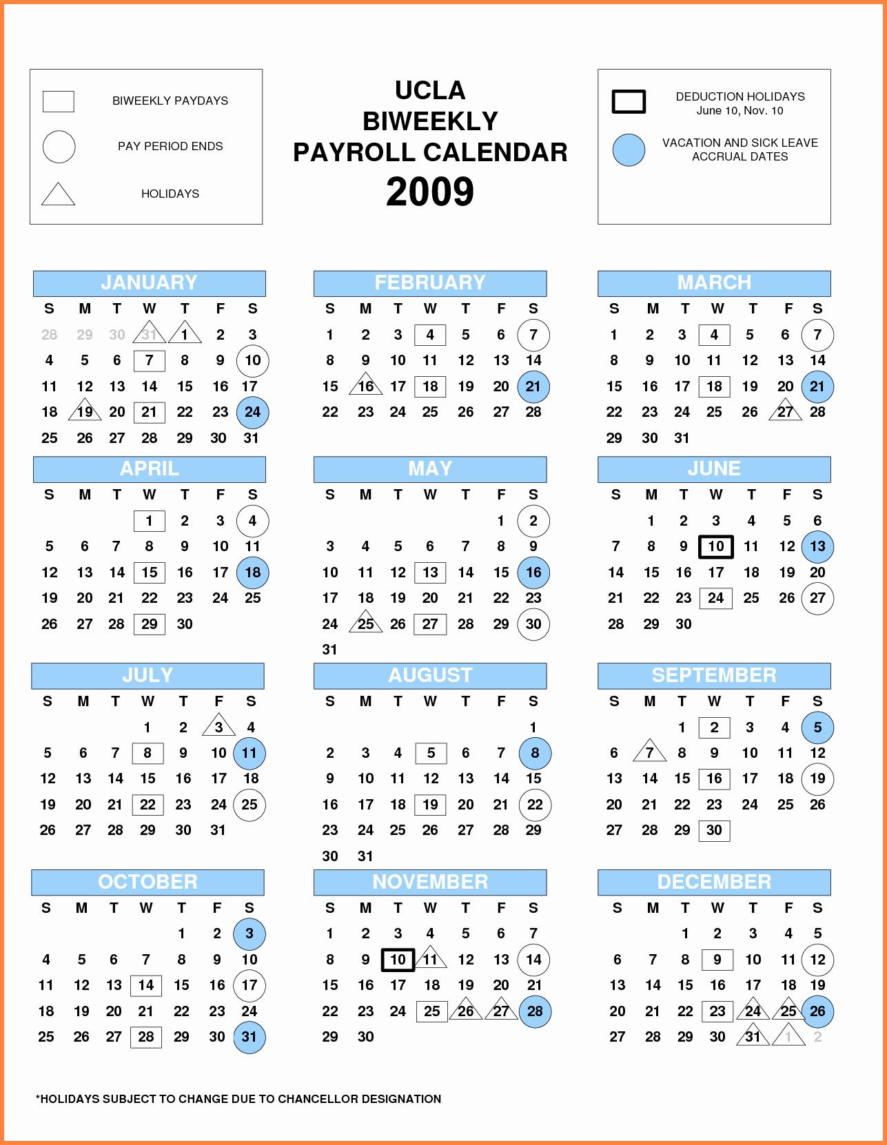 2019 Biweekly Payroll Calendar Template Elegant Pay Period Calendar Bi Weekly 2018