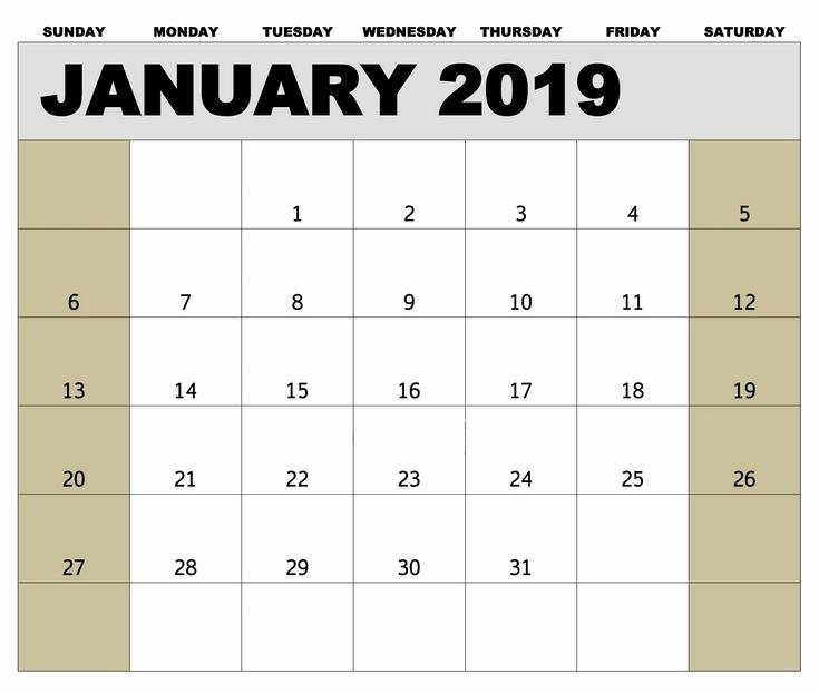 2019 Biweekly Payroll Calendar Template Fresh January 2019 Biweekly Payroll Calendar Template for