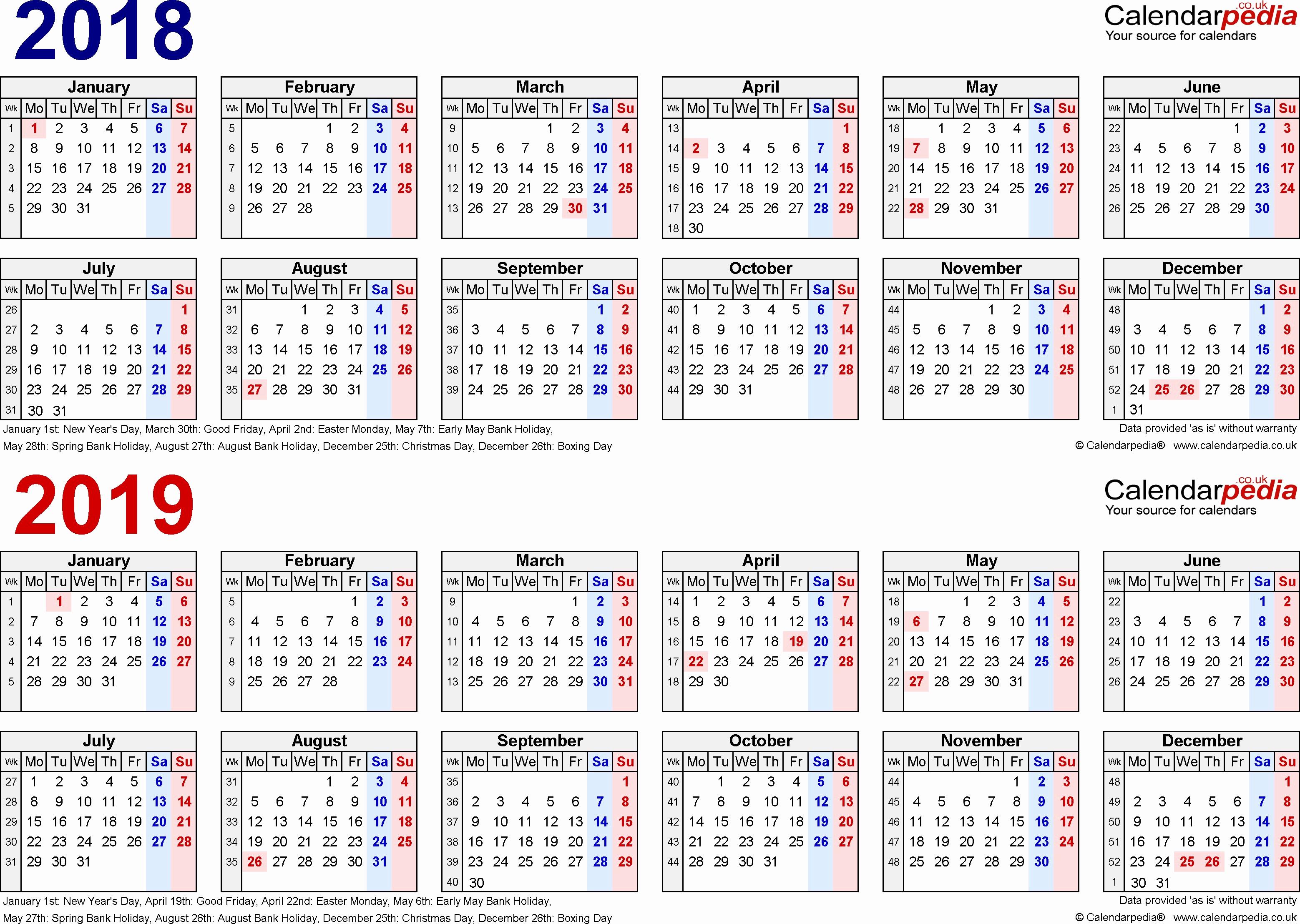 2019 Biweekly Payroll Calendar Template Luxury Pay Period Calendar Bi Weekly 2018
