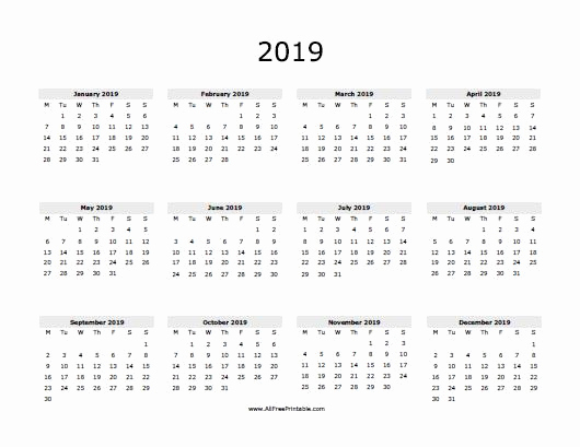 2019 Calendar Template Word Awesome 2019 Calendar Word