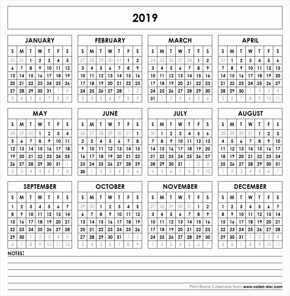 2019 Calendar Template Word Elegant 2019 Printable Calendar Yearly Calendar
