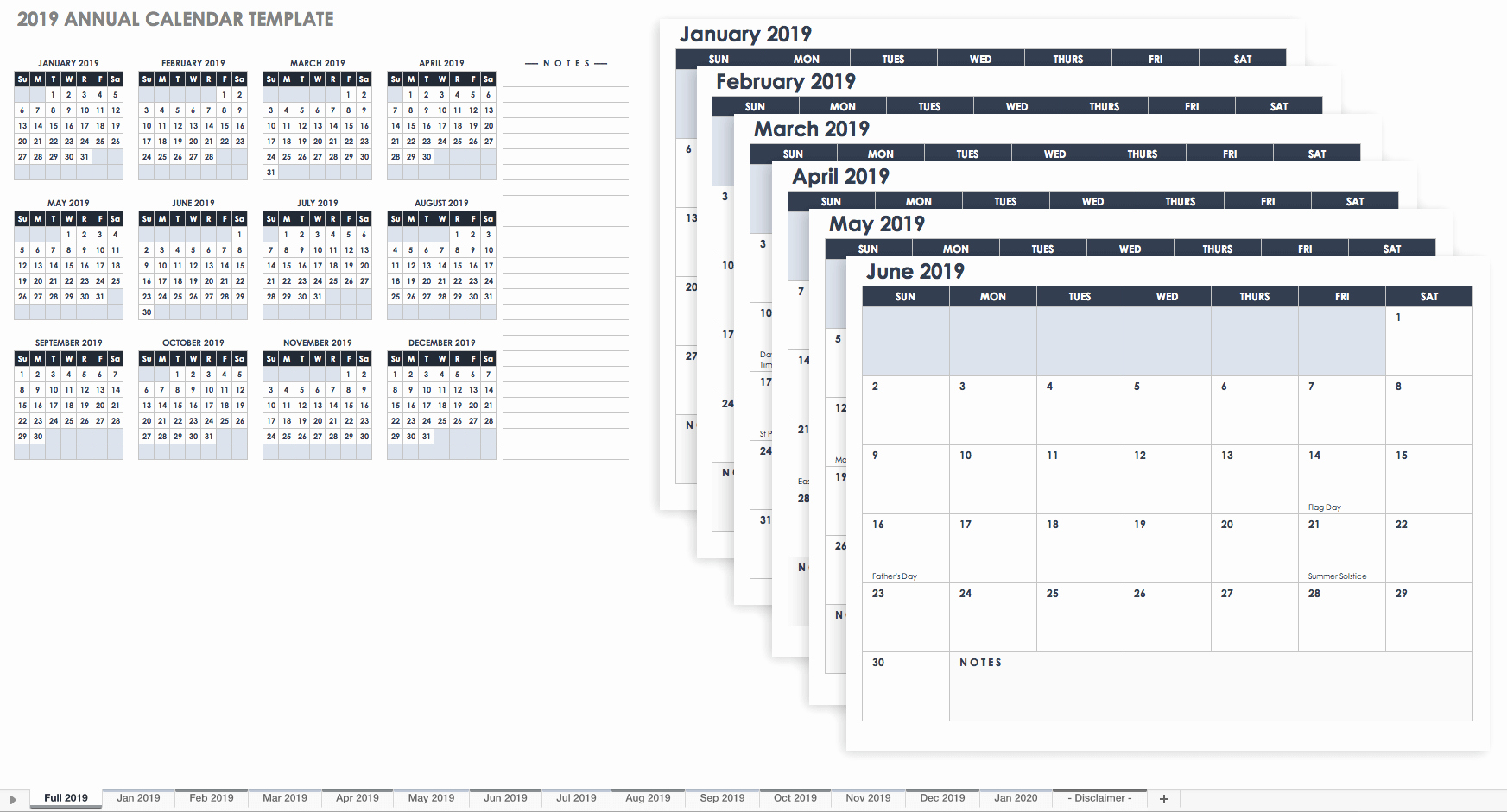 2019 Monthly Calendar Template Elegant 15 Free Monthly Calendar Templates