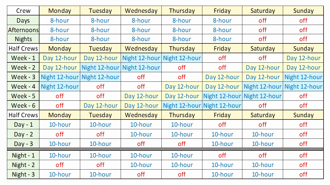 24 Hour Schedule Template Best Of 24 Hour Shift Schedule Template