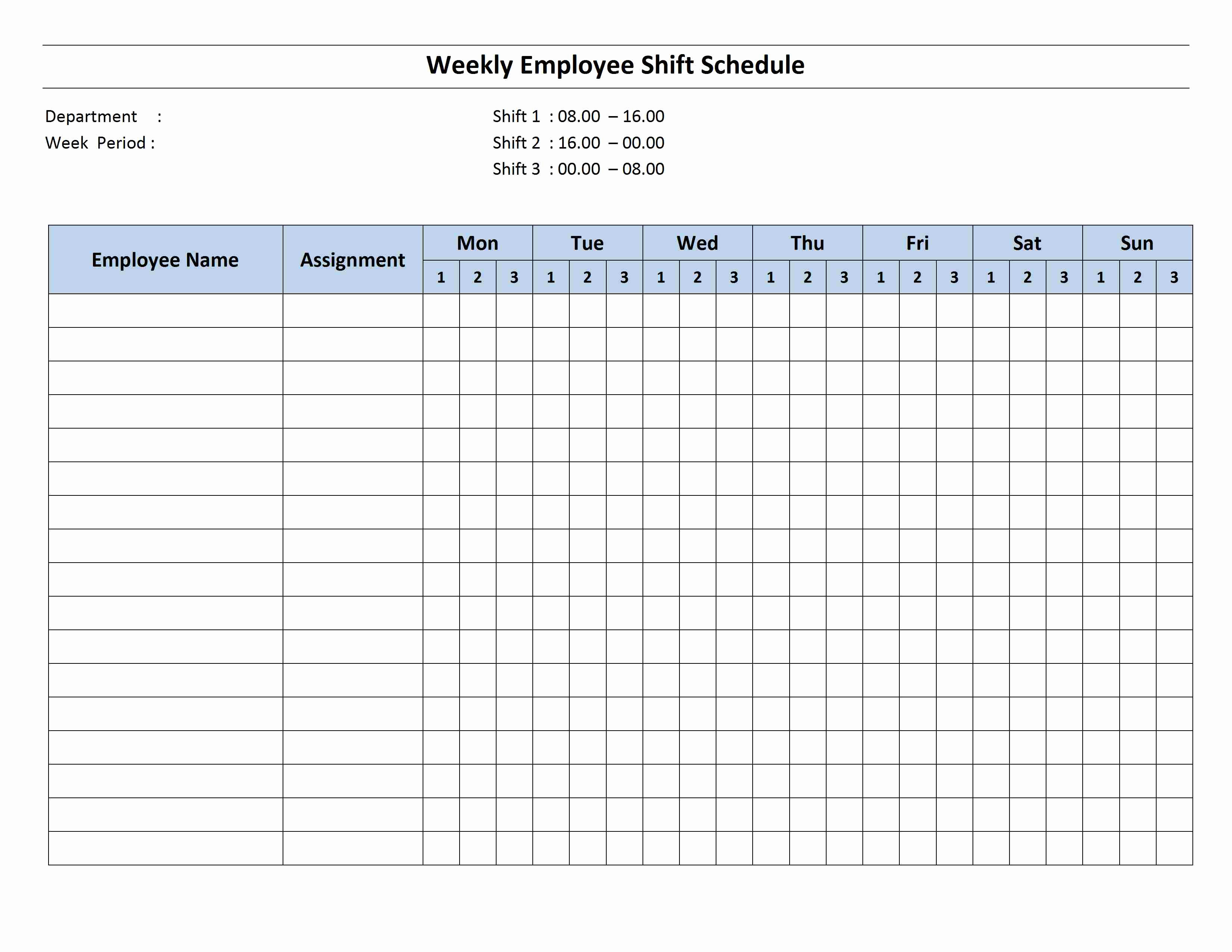 24 Hour Schedule Template Fresh 8 Hour Shift Schedule Template