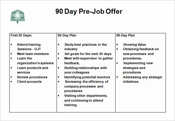 30 60 90 Plan Template Elegant 12 30 60 90 Day Action Plan Templates Doc Pdf