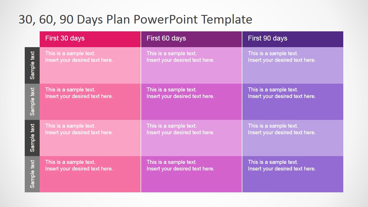 30 60 90 Plan Template Fresh 30 60 90 Days Plan Powerpoint Template Slidemodel
