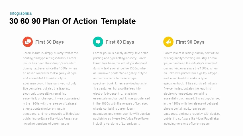 30 60 90 Plan Templates Awesome 30 60 90 Plan Action Powerpoint and Keynote Template