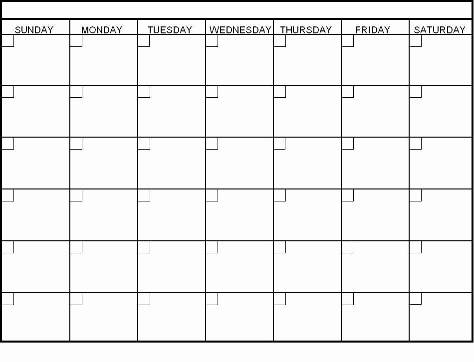 30 Day Calendar Template Elegant Blank 30 Day Calendar Pages Blank Calendar