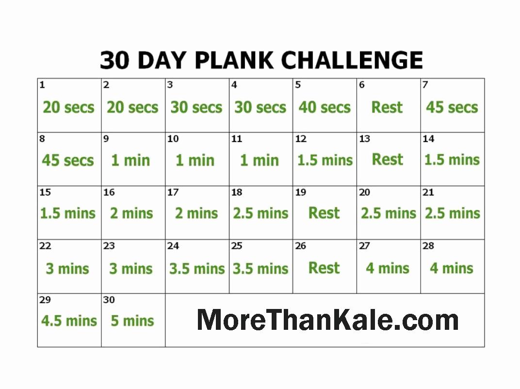 30 Day Calendar Template Fresh Innovative 30 Day Plank Challenge Printable Calendar