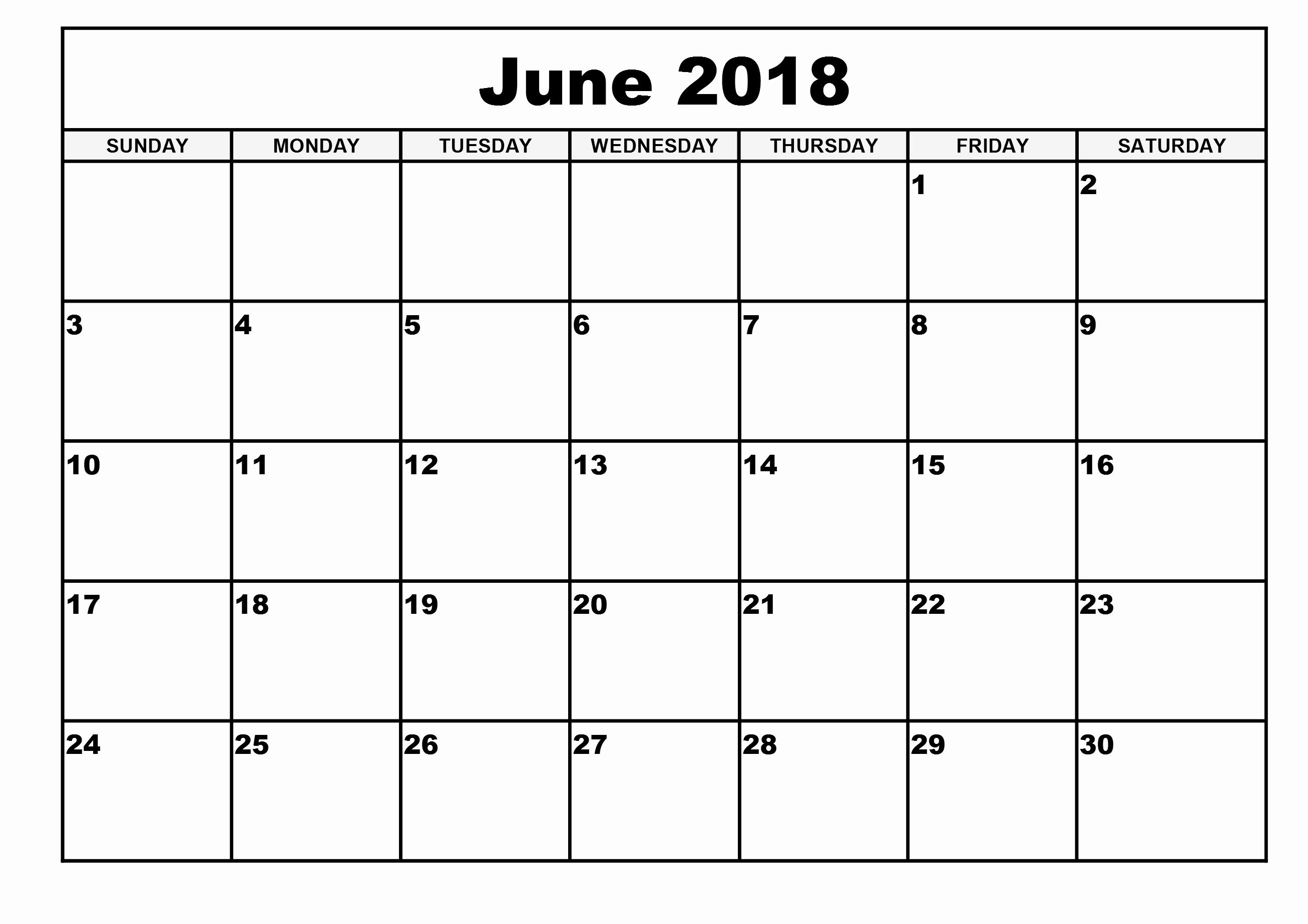 30 Day Calendar Template New October 2018 – Template Calendar Design