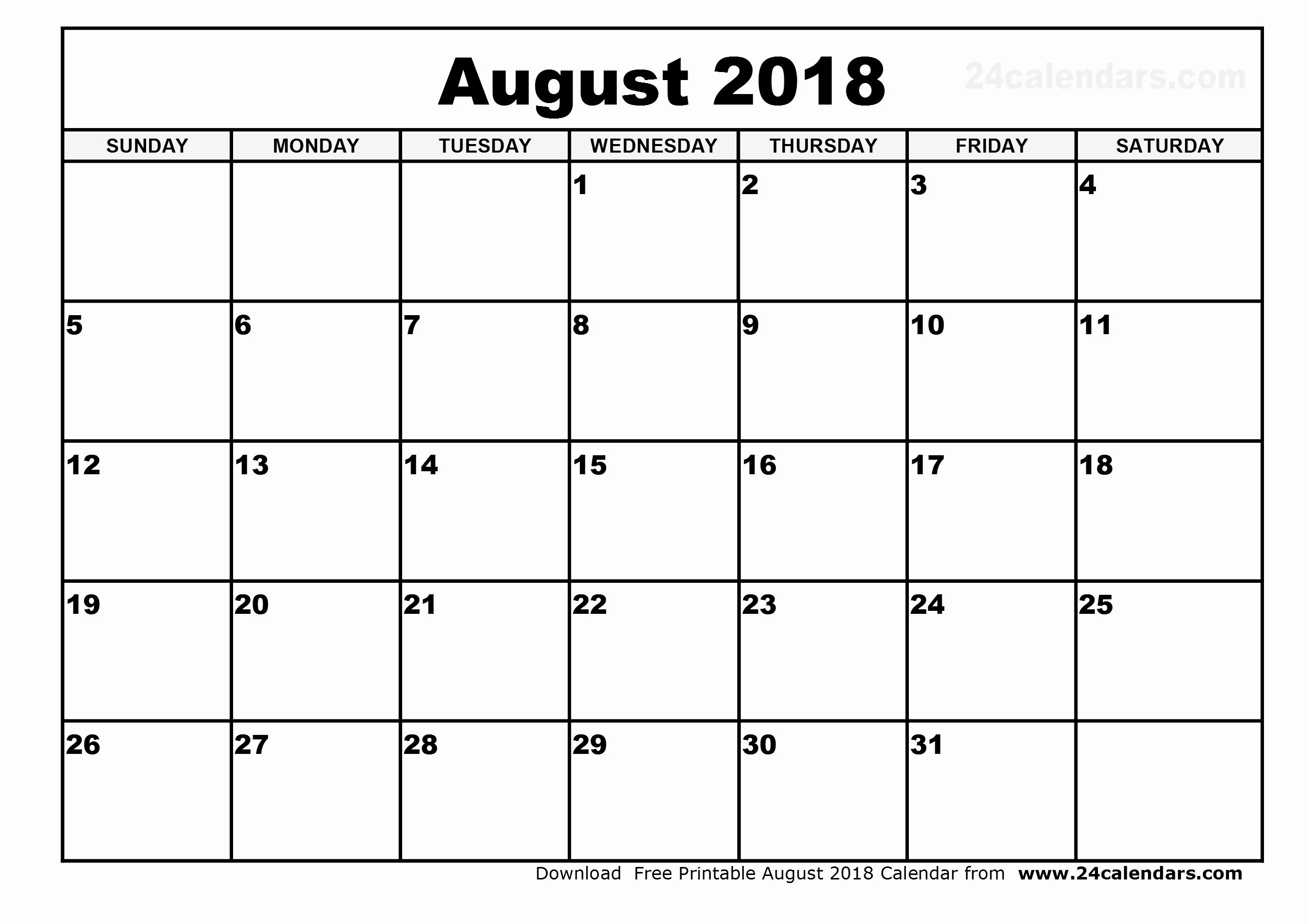 30 Day Calendar Template Unique October 2018 – Template Calendar Design