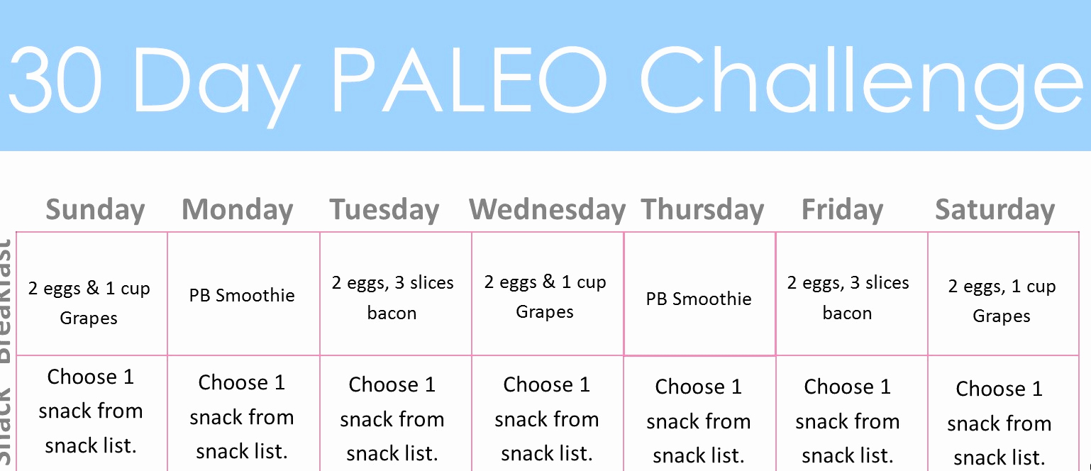 30 Day Diet Meal Plan Best Of 30 Day Paleo Challenge Diary Of A Fit Mommy