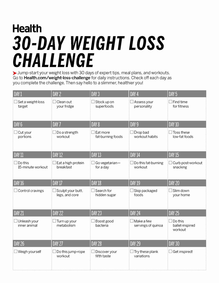 30 Day Diet Meal Plan Elegant 30 Day Weight Loss Challenge Health
