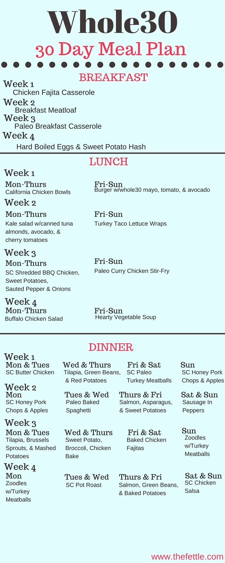 30 Day Diet Meal Plan Inspirational Summer Breakfast Meatloaf Egg Free Nut Free