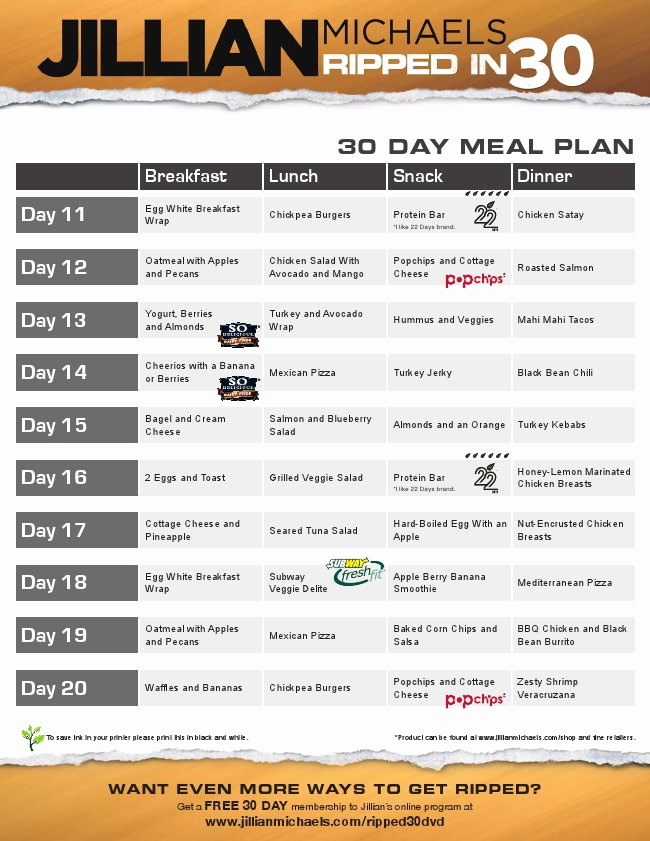 30 Day Diet Meal Plan Lovely 30 Day Shred T Plan Nyspeechcenter