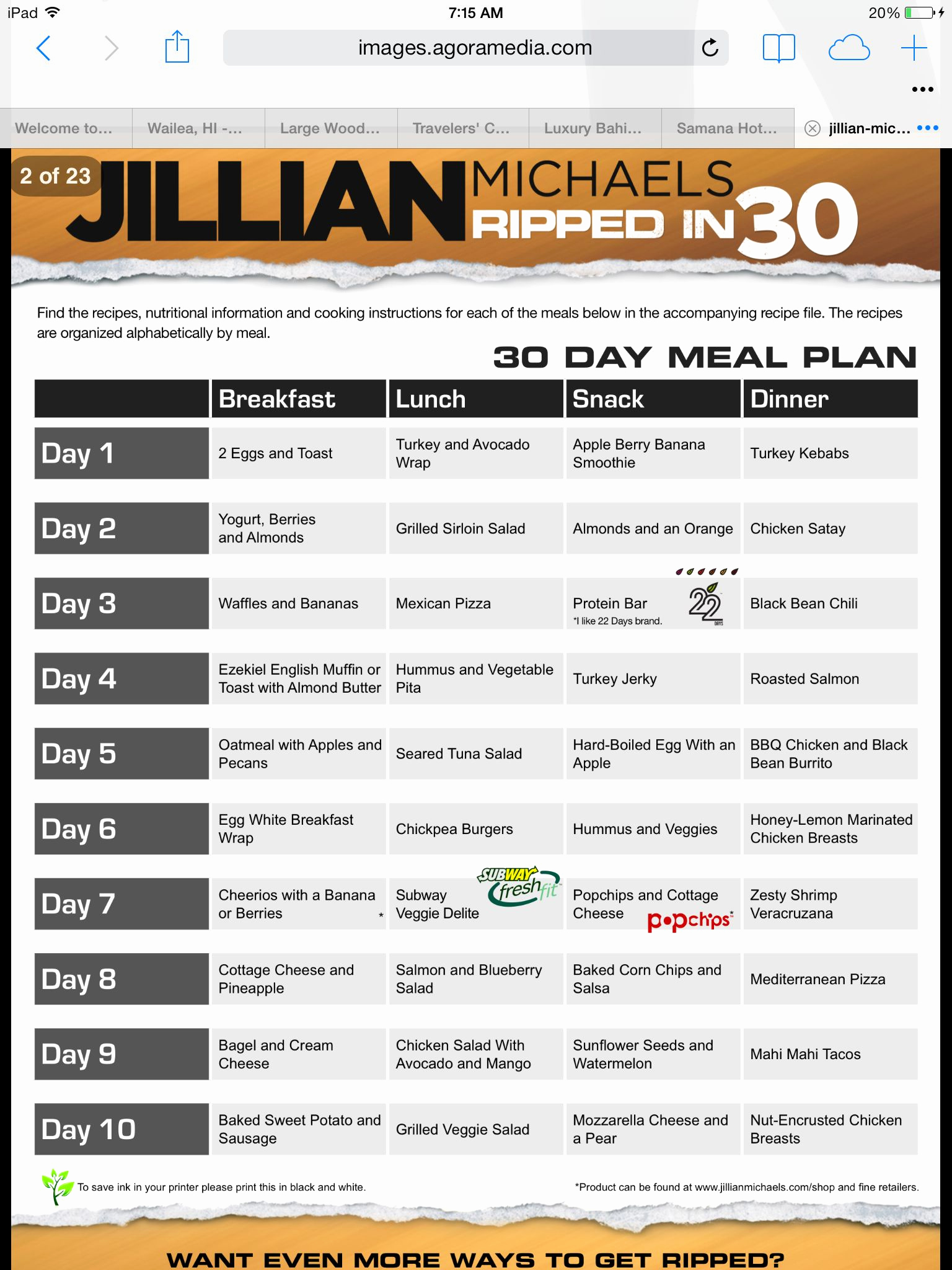 30 Day Diet Meal Plan Luxury the Meal Plan Jm 30 Day Shred
