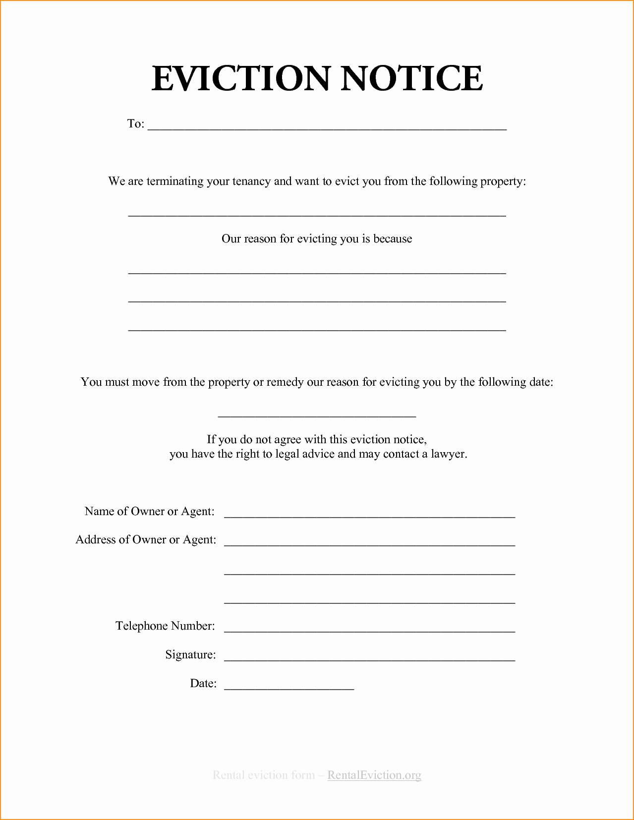 30 Day Eviction Notice form Elegant Blank Eviction Notice Example Mughals