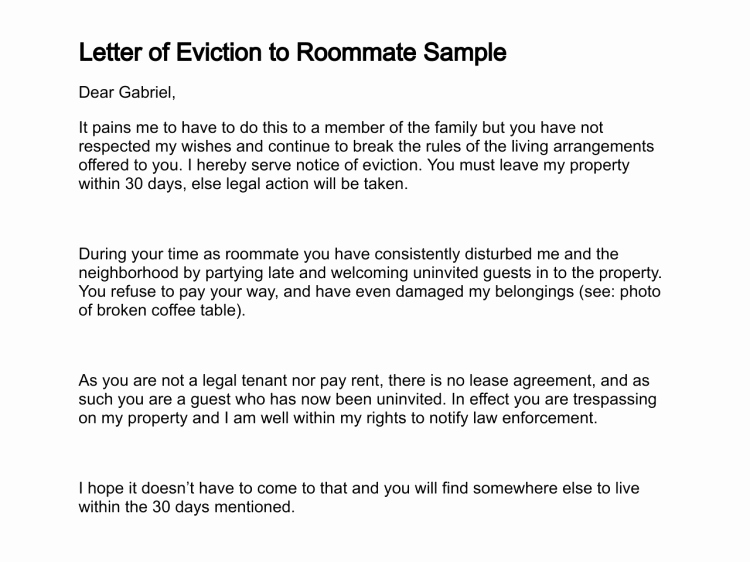 30 Day Eviction Notice form Luxury 30 Day Eviction Notice