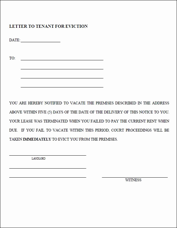 30 Day Eviction Notice form Unique 10 Eviction Notice Templates Free Download for Pdf