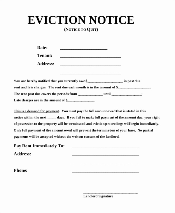 30 Day Eviction Notice Pdf Best Of Sample Eviction Notice form 8 Free Documents In Pdf Doc