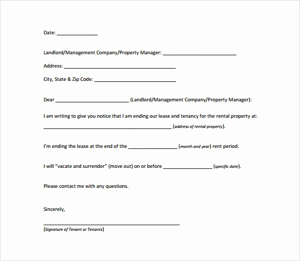 30 Days Notice Letter Beautiful 8 Sample 30 Day Notice Letter Templates Download for Free