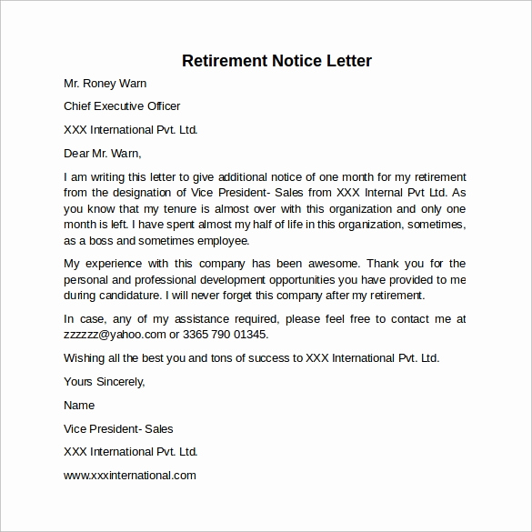 30 Days Notice Letter Best Of Sample 30 Days Notice Letter 7 Free Documents In Word Pdf