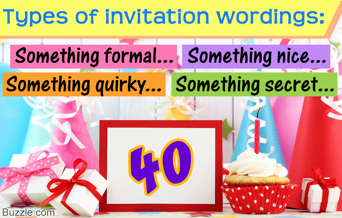40th Birthday Invitation Wording Awesome 40th Birthday Invitation Wordings that Ll Impress Your Guests