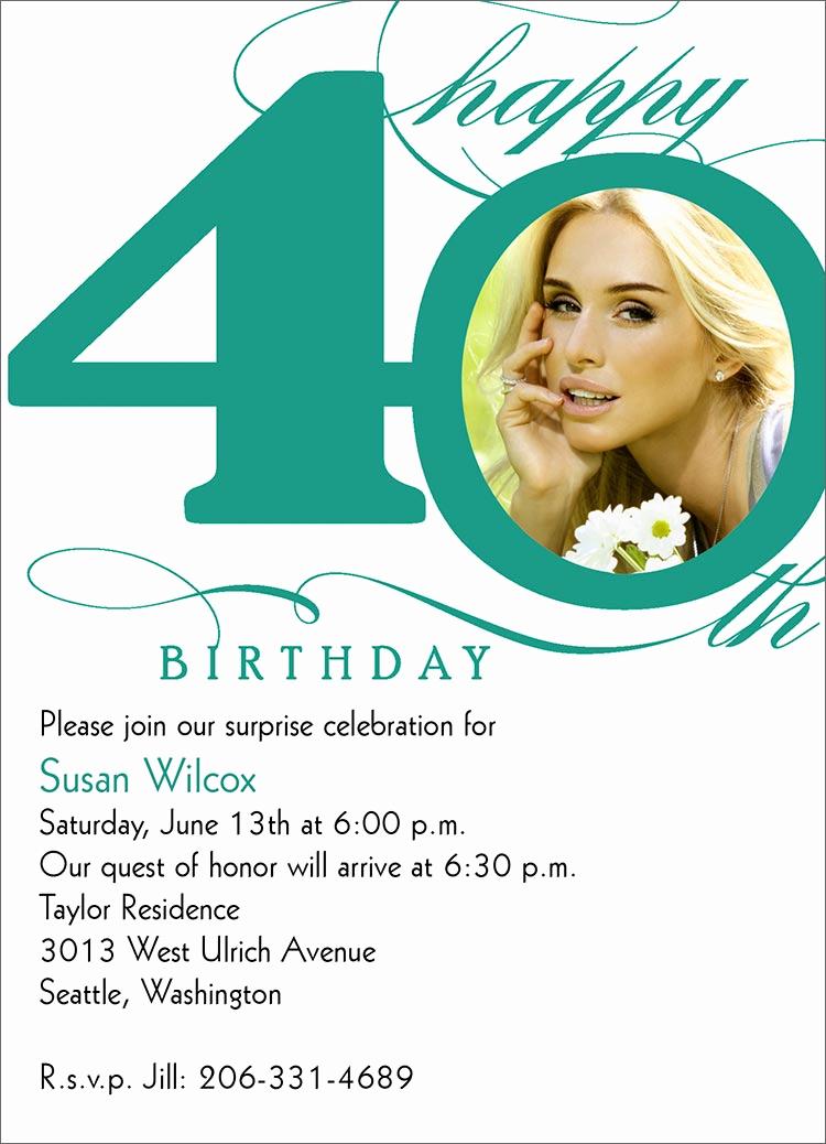 40th Birthday Invitation Wording Awesome 40th Milestone Birthday Birthday From Cardsdirect