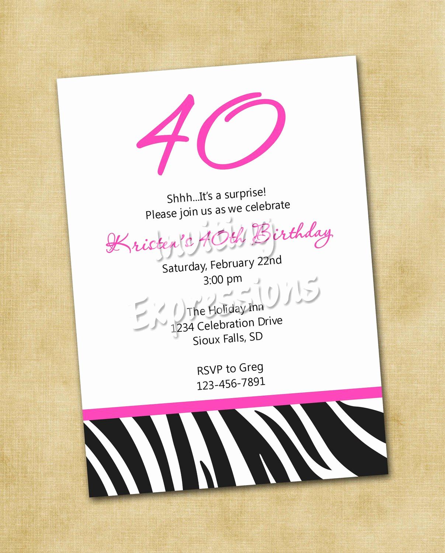 40th Birthday Invitation Wording Best Of Surprise 40th Birthday Invitation Wording Samples