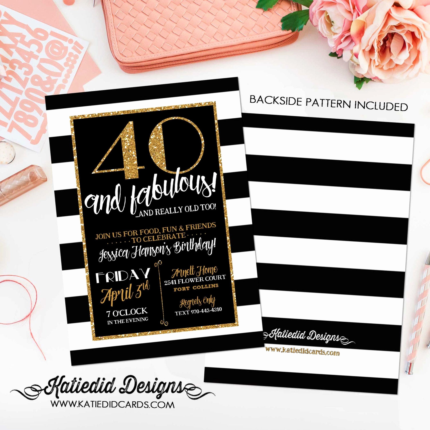 40th Birthday Invitation Wording Lovely 40th Birthday Invitation for Women Rehearsal Dinner Adults