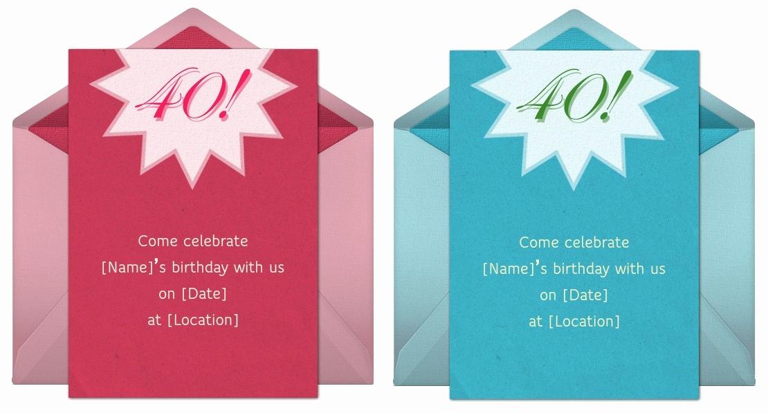 40th Birthday Invitation Wording New 40th Birthday Invitation