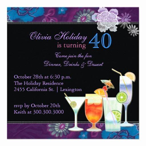 40th Birthday Invitation Wording Unique 21 Best 40th Birthday Invitations Wording Images On