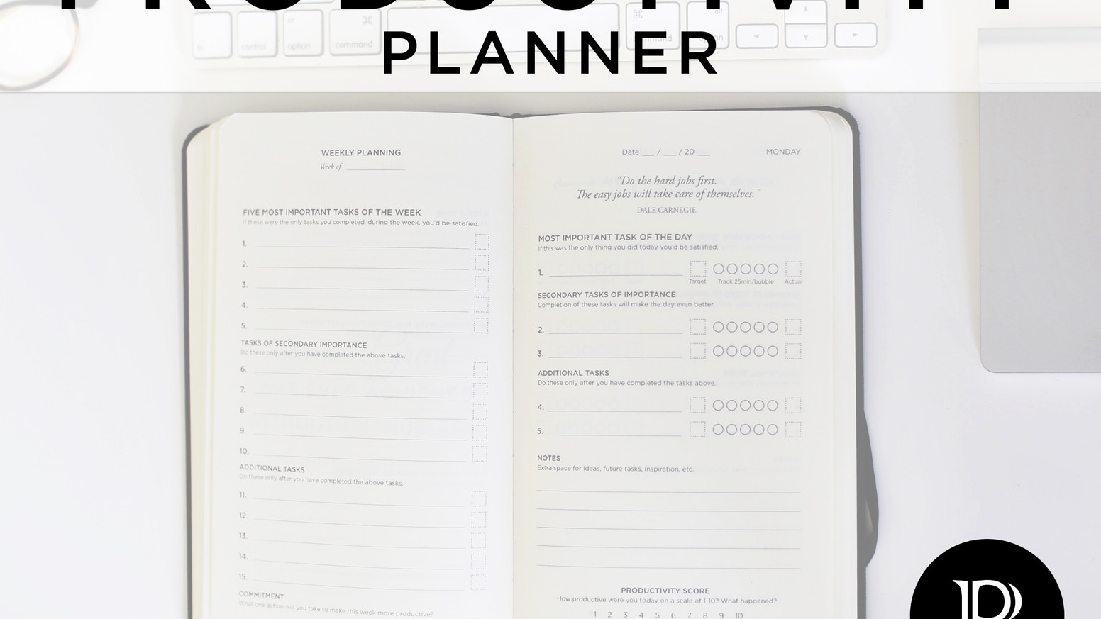 5 Minute Journal Pdf Luxury Productivity Planner Get More Done and Beat