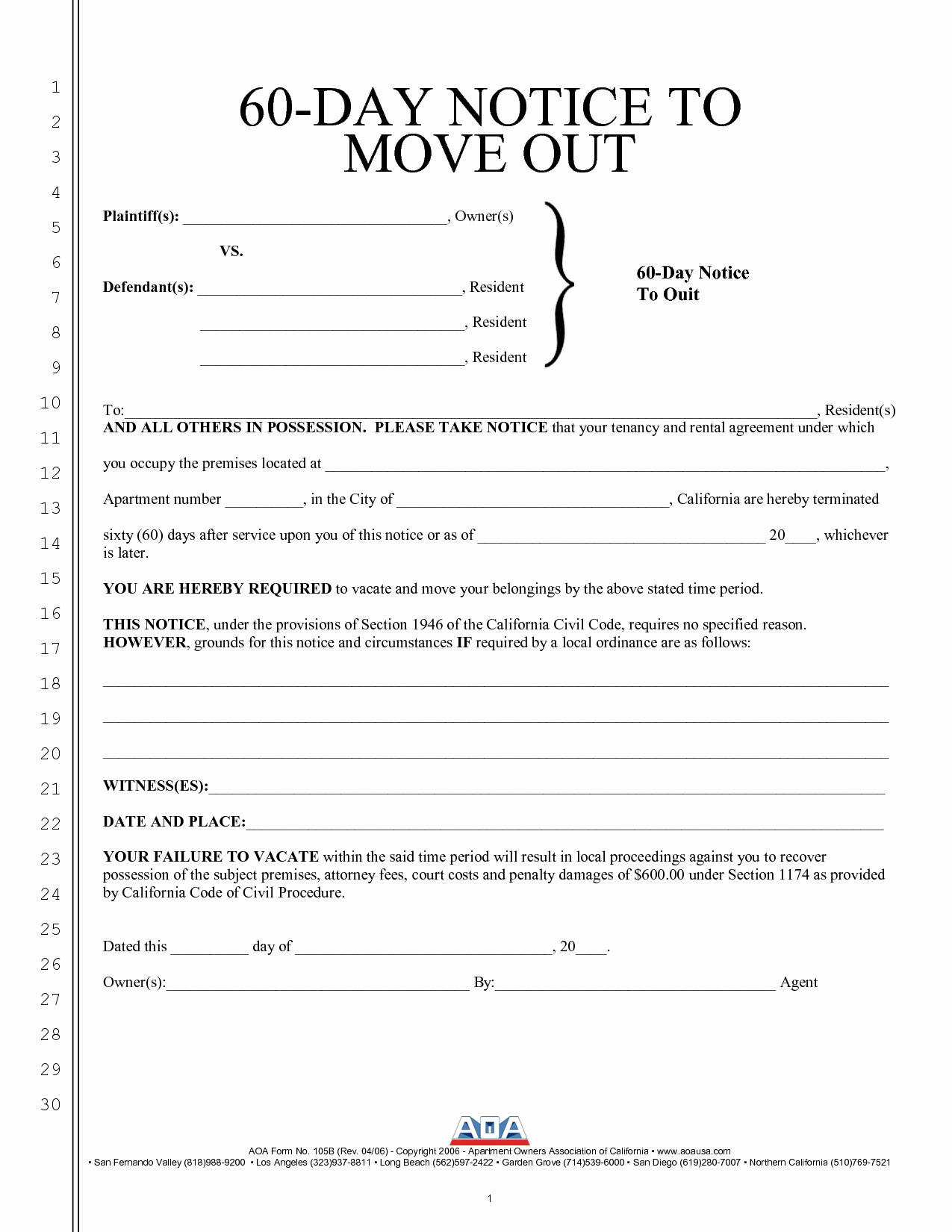 60 Day Apartment Notice Letter Fresh Best S Of Intent to Move Out Template Sample