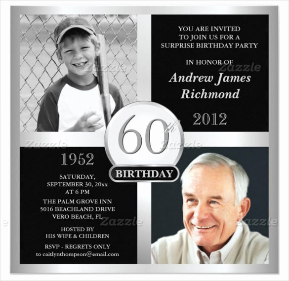 60 Th Birthday Invites Awesome 26 60th Birthday Invitation Templates – Psd Ai