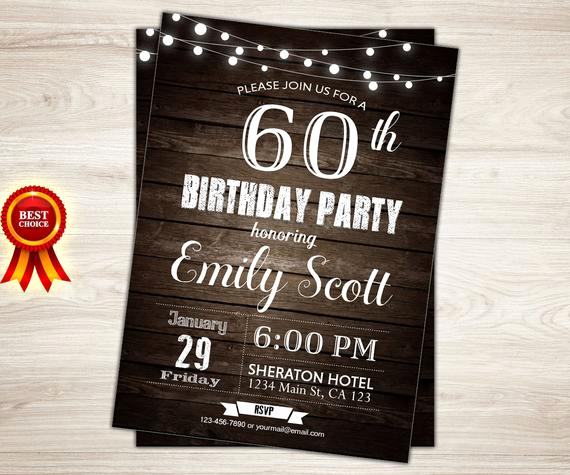 60 Th Birthday Invites Beautiful Surprise 60th Birthday Invitation Man Surprise Birthday Party
