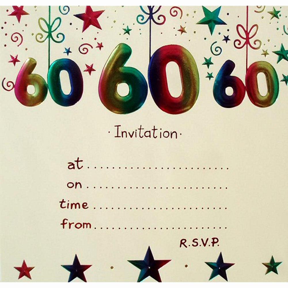 60 Th Birthday Invites Elegant 20 Ideas 60th Birthday Party Invitations Card Templates
