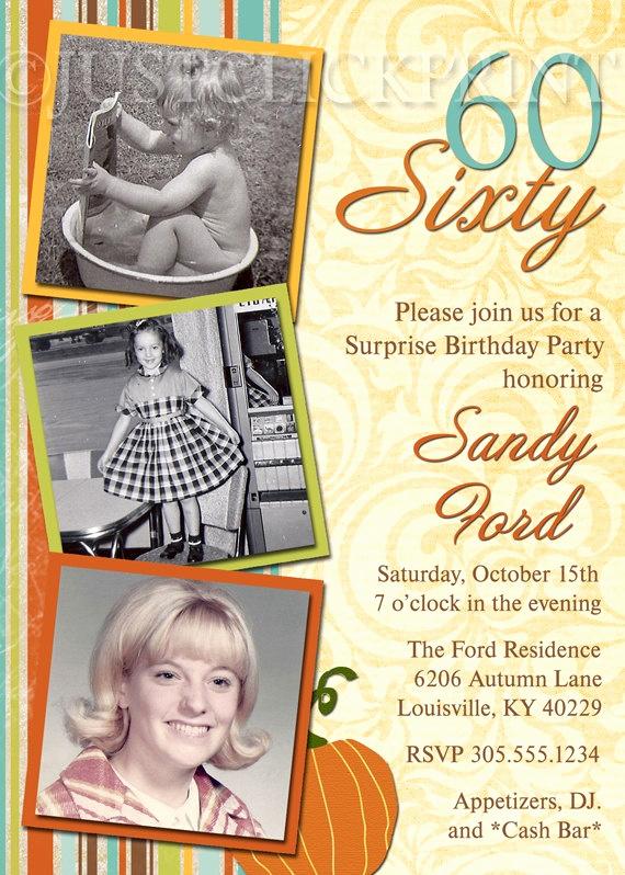 60 Th Birthday Invites Fresh Pinterest Invitations 60th