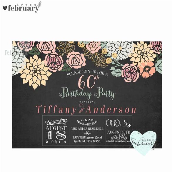 60 Th Birthday Invites Inspirational 26 60th Birthday Invitation Templates – Psd Ai