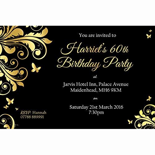 60 Th Birthday Invites Lovely 60th Birthday Party Invitations Amazon