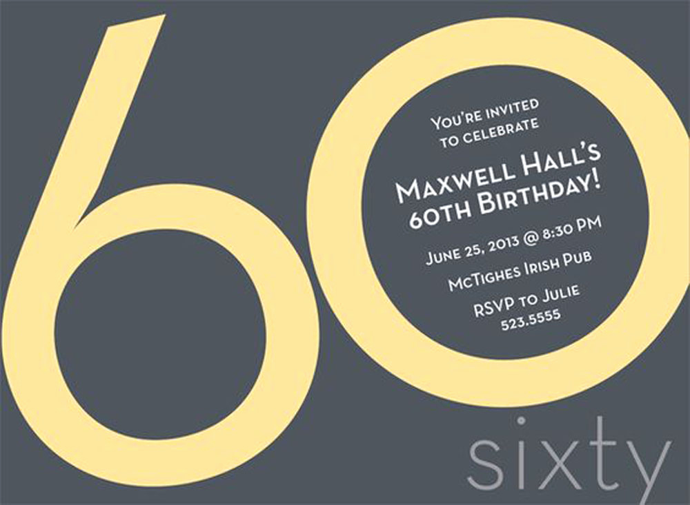 60 Th Birthday Invites Luxury 20 Ideas 60th Birthday Party Invitations Card Templates
