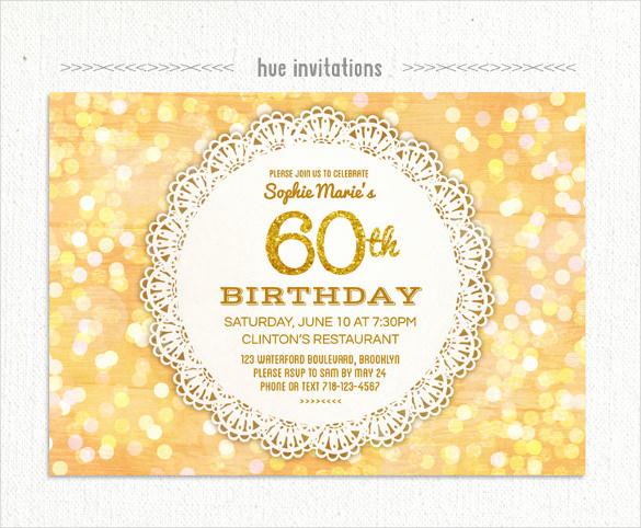 60 Th Birthday Invites Unique 26 60th Birthday Invitation Templates – Psd Ai