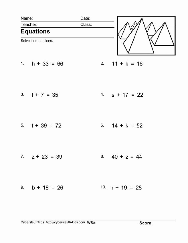 7th Grade Algebra Worksheets Best Of Pre Algebra Worksheets 7th Grade Algebra