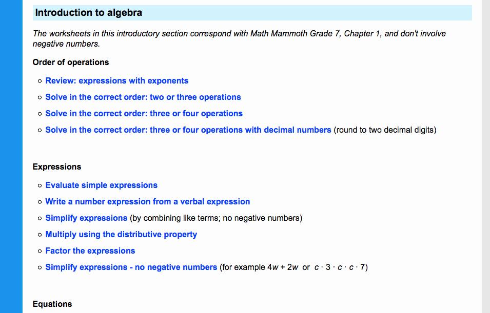 7th Grade Algebra Worksheets Elegant 7th Grade Math Worksheets Problems Games and More
